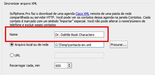 XML file display name